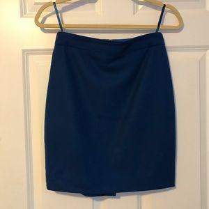 Cobalt Blue J. Crew Wool Pencil Skirt